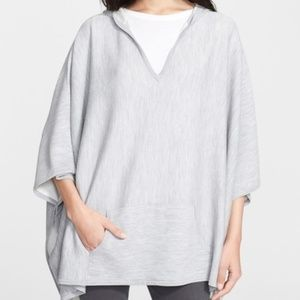 Vince M/L poncho double face hooded pullover